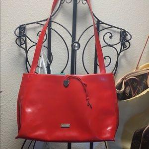 Red moschino shoulder bag
